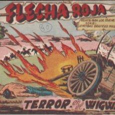 Tebeos: FLECHA ROJA Nº 40: TERROR EN EL WIGWAM. Lote 221396486