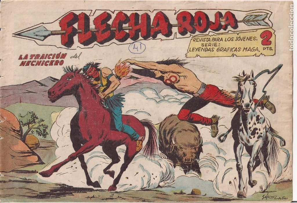 FLECHA ROJA Nº 41: LA TRAICIÓN DEL HECHICERO (Tebeos y Comics - Maga - Flecha Roja)