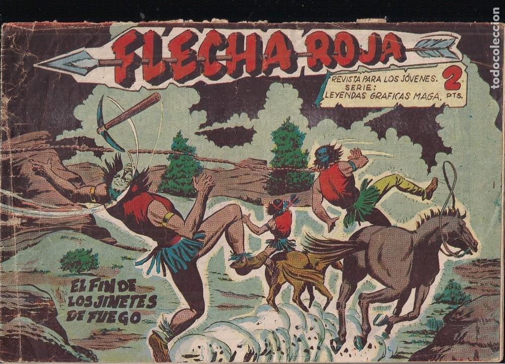 FLECHA ROJA Nº 43: EL FIN DE LOS JINETES NEGROS (Tebeos y Comics - Maga - Flecha Roja)