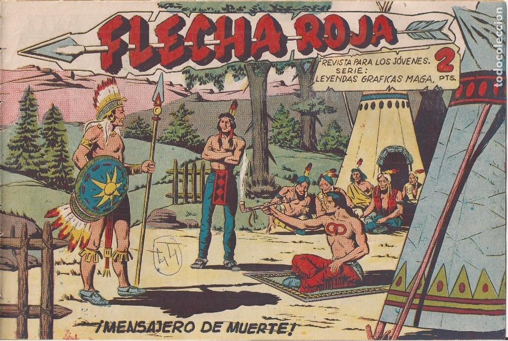 FLECHA ROJA Nº 44: MENSAJERO DE MUERTE (Tebeos y Comics - Maga - Flecha Roja)