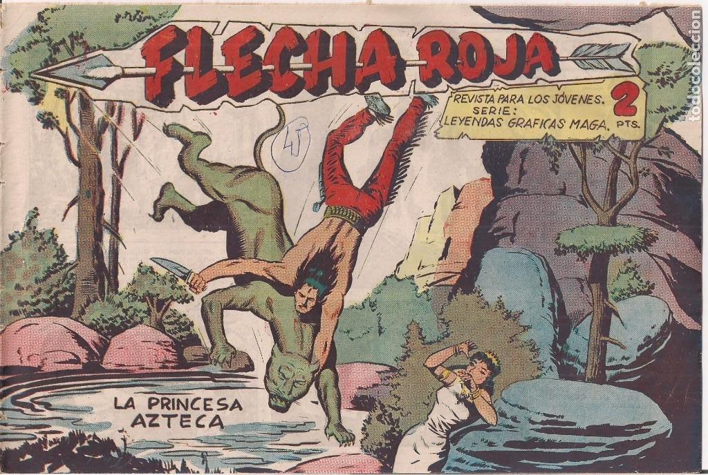FLECHA ROJA Nº 45: LA PRINCESA AZTECA (Tebeos y Comics - Maga - Flecha Roja)