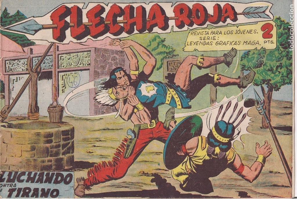 FLECHA ROJA Nº 46: LUCHANDO CONTRA EL TIRANO (Tebeos y Comics - Maga - Flecha Roja)