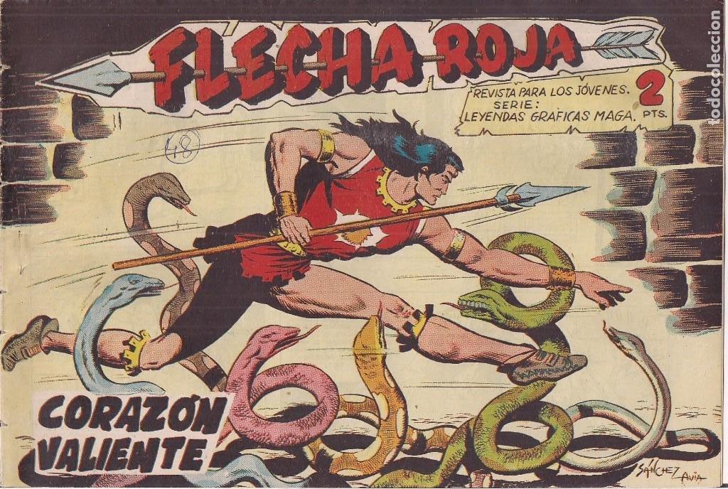 FLECHA ROJA Nº 48: CORAZÓN VALIENTE (Tebeos y Comics - Maga - Flecha Roja)