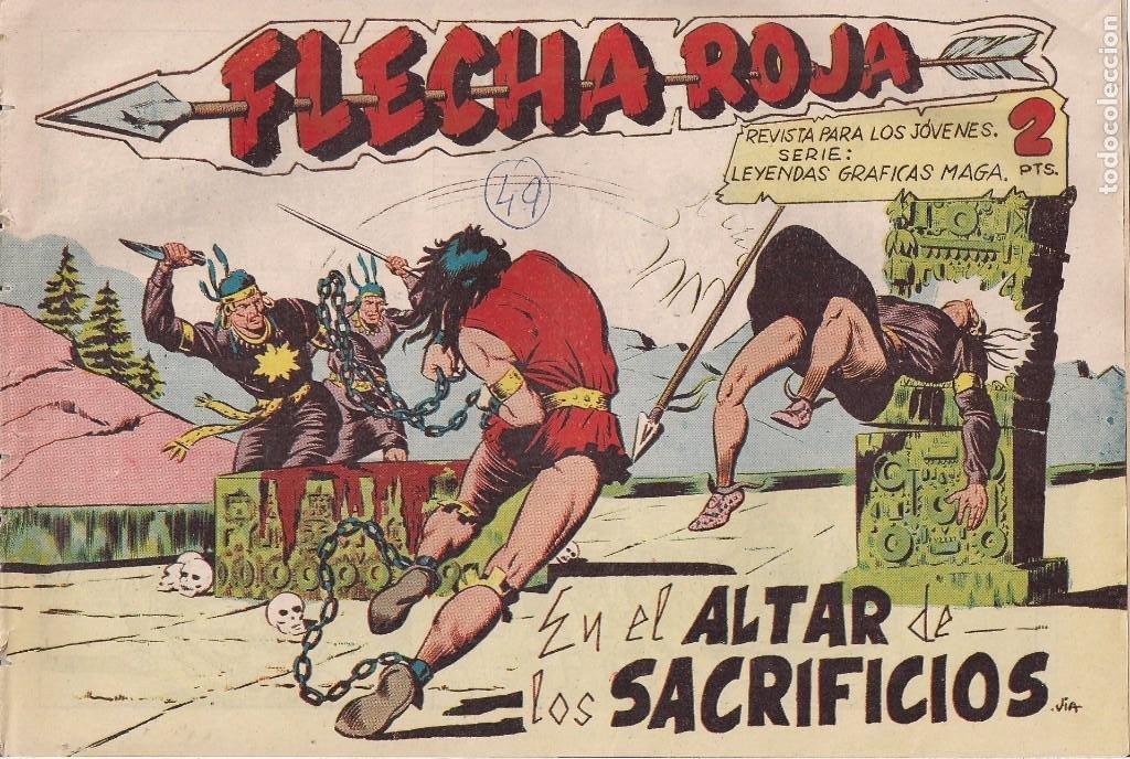 FLECHA ROJA Nº 49: EN EL ALTAR DE LOS SACRIFICIOS (Tebeos y Comics - Maga - Flecha Roja)