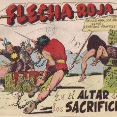 Tebeos: FLECHA ROJA Nº 49: EN EL ALTAR DE LOS SACRIFICIOS. Lote 221467657