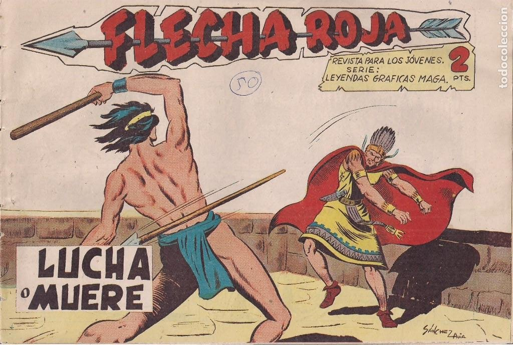 FLECHA ROJA Nº 50: LUCHA A MUERTE (Tebeos y Comics - Maga - Flecha Roja)