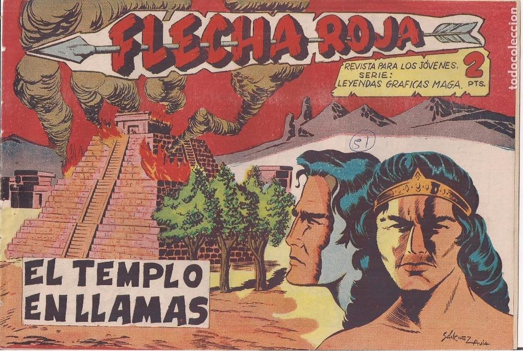 FLECHA ROJA Nº 51: EL TEMPLO EN LLAMAS (Tebeos y Comics - Maga - Flecha Roja)