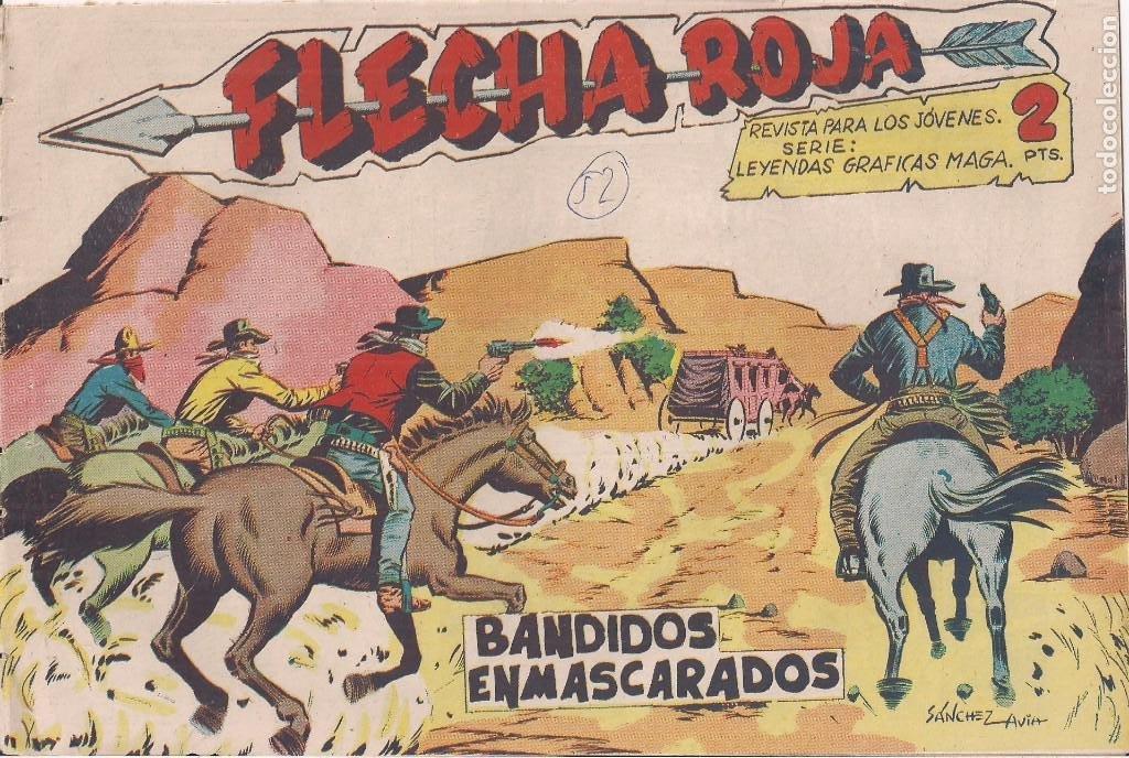 FLECHA ROJA Nº 52: BANDIDOS ENMASCARADOS (Tebeos y Comics - Maga - Flecha Roja)