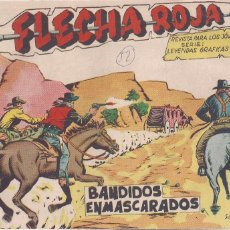 Tebeos: FLECHA ROJA Nº 52: BANDIDOS ENMASCARADOS. Lote 221599606