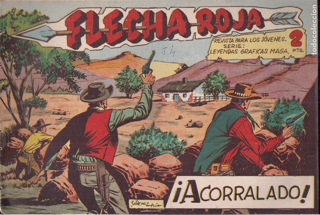 FLECHA ROJA Nº 54: ACORALADO (Tebeos y Comics - Maga - Flecha Roja)