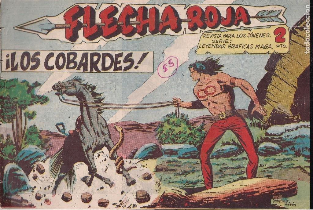 FLECHA ROJA Nº 55: LOS COBARDES (Tebeos y Comics - Maga - Flecha Roja)