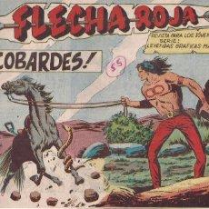 Tebeos: FLECHA ROJA Nº 55: LOS COBARDES. Lote 221599881