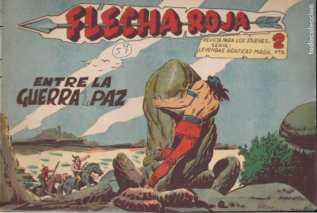 FLECHA ROJA Nº 57: ENTRE LA GUERRA Y LA PAZ (Tebeos y Comics - Maga - Flecha Roja)