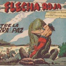 Tebeos: FLECHA ROJA Nº 57: ENTRE LA GUERRA Y LA PAZ. Lote 221600047