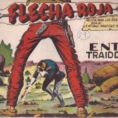 Tebeos: FLECHA ROJA Nº 59: ENTRE TRAIDORES. Lote 221600186