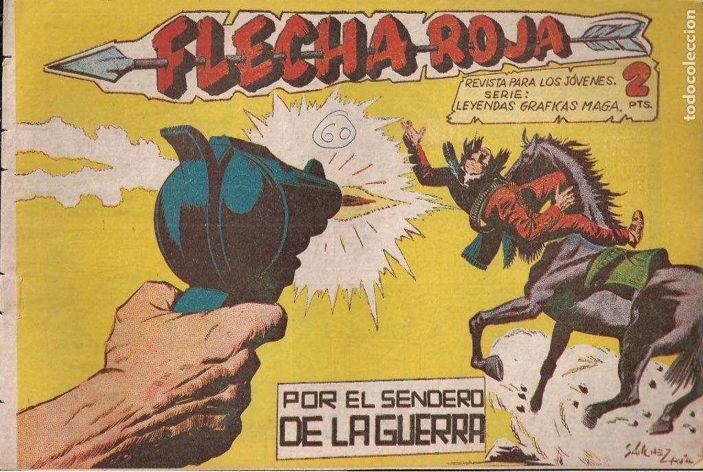FLECHA ROJA Nº 60: POR EL SENDERO DE LA GUERRA (Tebeos y Comics - Maga - Flecha Roja)