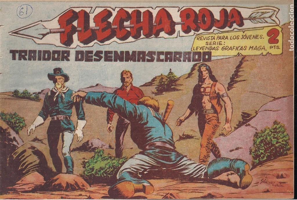 FLECHA ROJA Nº 61: TRAIDOR DESENMASCARADO (Tebeos y Comics - Maga - Flecha Roja)