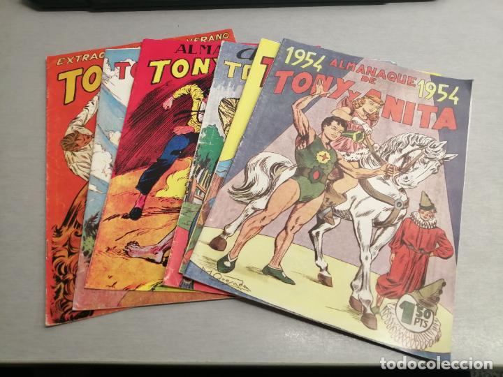 TONY Y ANITA EXTRAORDINARIO 1953 Y ALMANAQUES 1954, 1955, 1956, 1957, 1958 / REEDICIÓN (Tebeos y Comics - Maga - Tony y Anita)