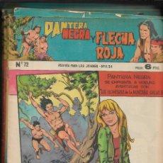 Tebeos: PANTERA NEGRA Y FLECHA ROJA REVISTA AÑO 1965 COLECCIÓN COMPLETA SON 32 TEBEOS ORIGINALES MUY NUEVOS. Lote 221735301