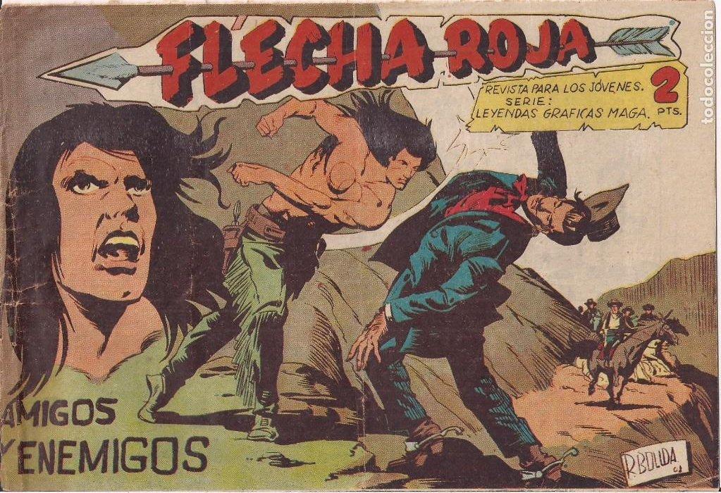 FLECHA ROJA Nº 64: AMIGOS Y ENEMIGOS (Tebeos y Comics - Maga - Flecha Roja)