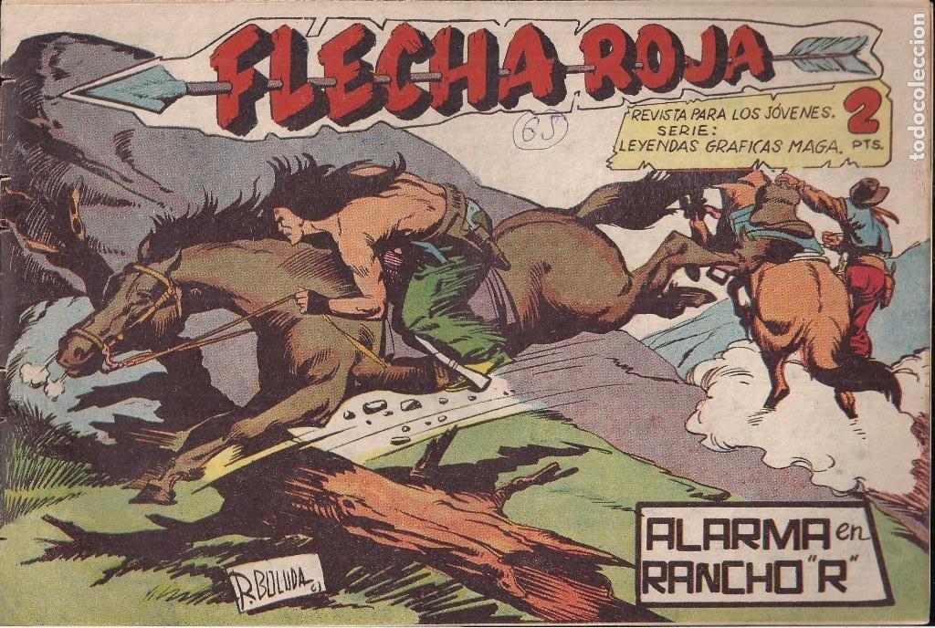 FLECHA ROJA Nº 65: ALARMA EN RANCHO R (Tebeos y Comics - Maga - Flecha Roja)