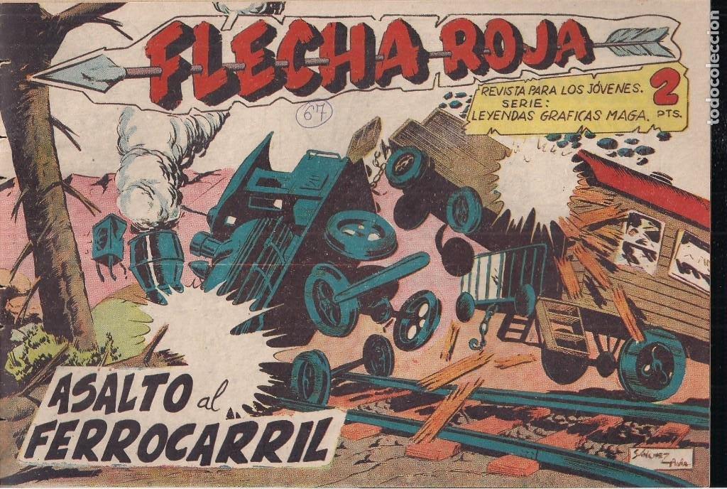FLECHA ROJA Nº 67: ASALTO AL FERROCARRIL (Tebeos y Comics - Maga - Flecha Roja)