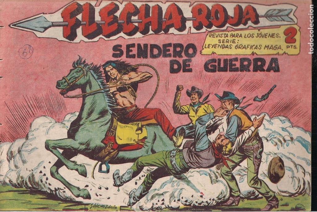 FLECHA ROJA Nº 68: SENDERO DE GUERRA (Tebeos y Comics - Maga - Flecha Roja)