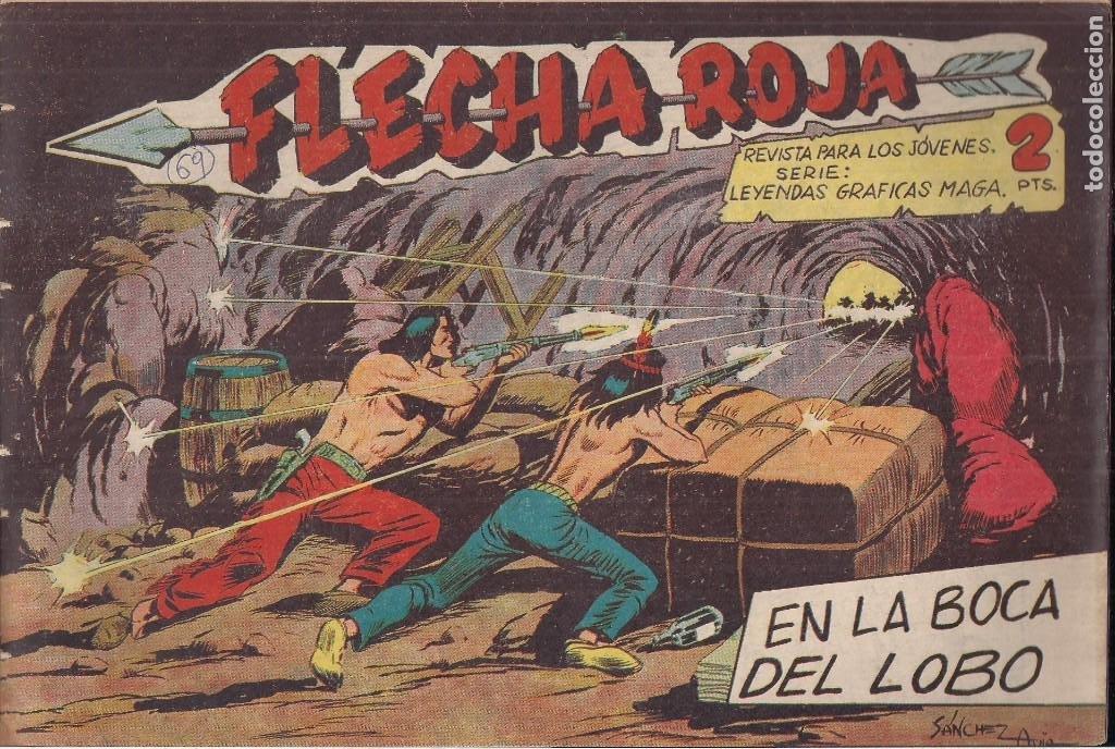 FLECHA ROJA Nº 69: EN LA BICA DEL LOBO (Tebeos y Comics - Maga - Flecha Roja)