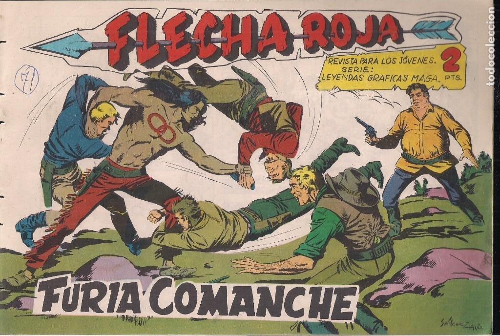 FLECHA ROJA Nº 71: FURIA COMANCHE (Tebeos y Comics - Maga - Flecha Roja)