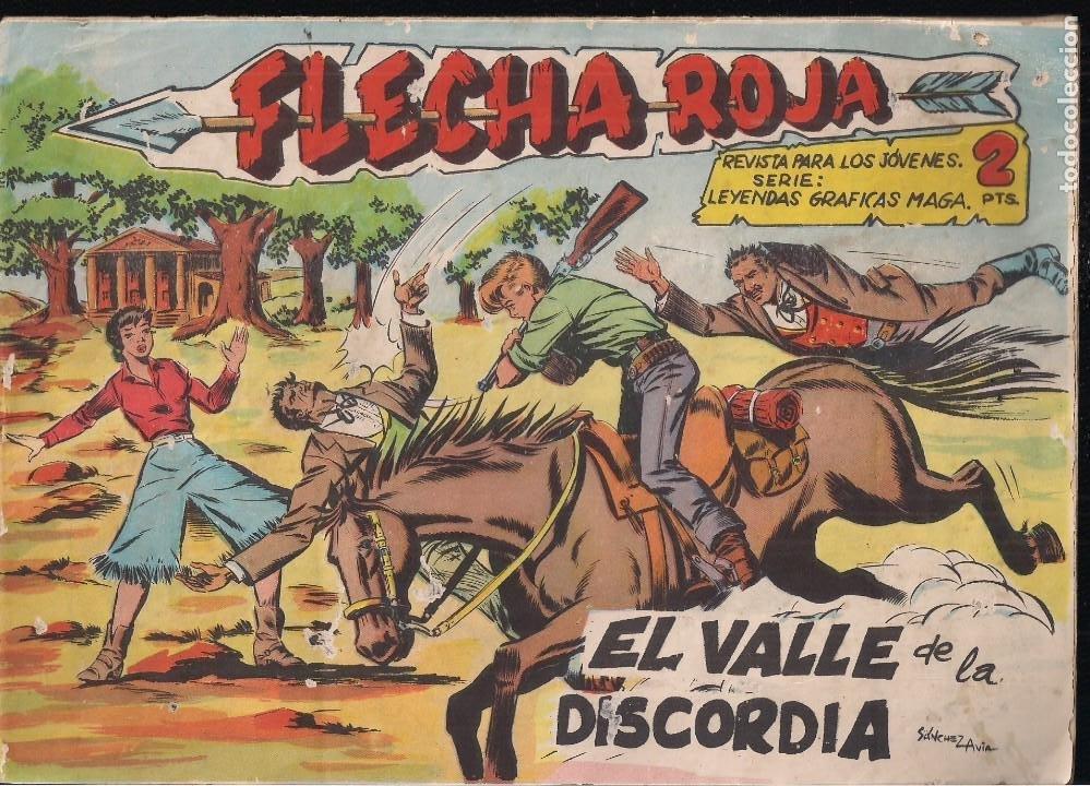 FLECHA ROJA Nº 73: EL VALLE DE LA DISCORDIA (Tebeos y Comics - Maga - Flecha Roja)