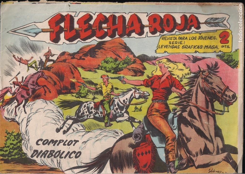 FLECHA ROJA Nº 77: COMPLOT DIABÓLICO (Tebeos y Comics - Maga - Flecha Roja)