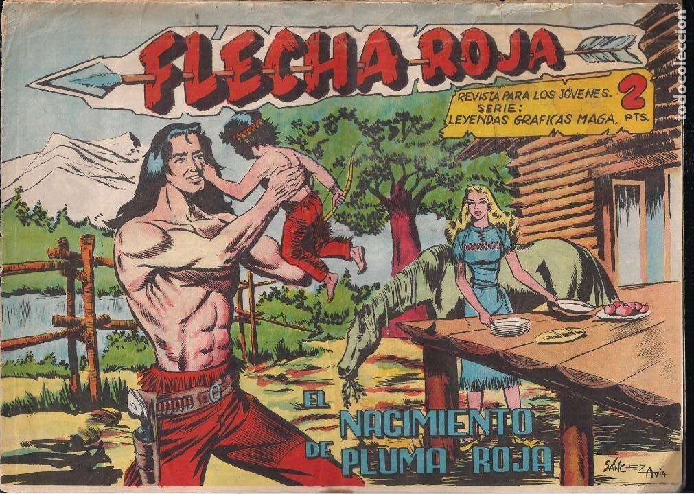 FLECHA ROJA Nº 79: EL NACIMIENTO DE PLUMA ROJA (Tebeos y Comics - Maga - Flecha Roja)