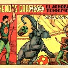 Tebeos: EL ACRÓBATA TERREMOTO-3 (MAGA, 1966) DE GAGO. FORMATO GRANDE (28 X 20 CMS.). Lote 222480956