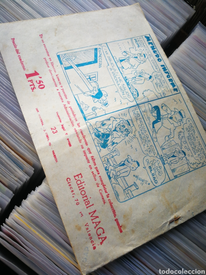 Tebeos: EL CORSARIO SIN ROSTRO- NAUFRAGIO! (SERIE DUQUE NEGRO), N°23. EDITORIAL MAGA. - Foto 3 - 222540600