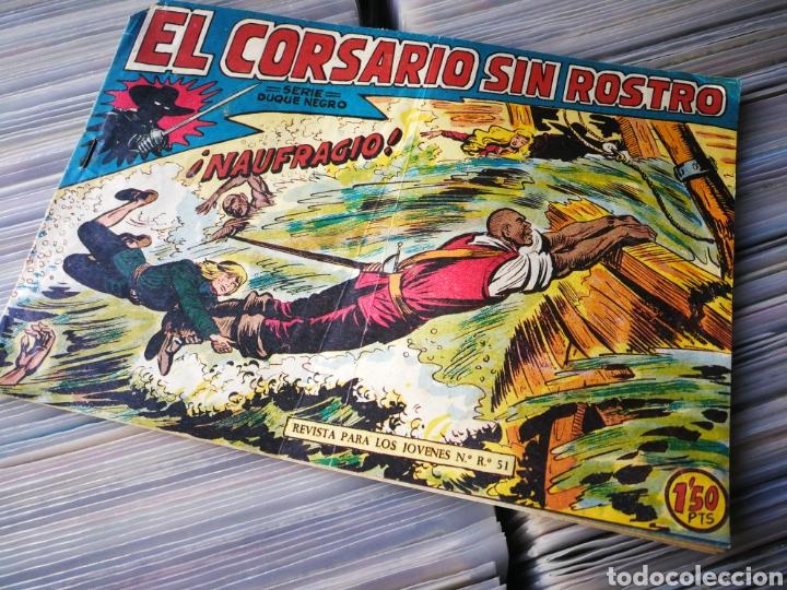 EL CORSARIO SIN ROSTRO- NAUFRAGIO! (SERIE DUQUE NEGRO), N°23. EDITORIAL MAGA. (Tebeos y Comics - Maga - Otros)