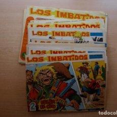 Tebeos: LOS IMBATIDOS - DE 2 Y 5 PESETAS - GRAN LOTE DE 26 NUMEROS - ORIGINALES - COMO NUEVOS. Lote 222865920