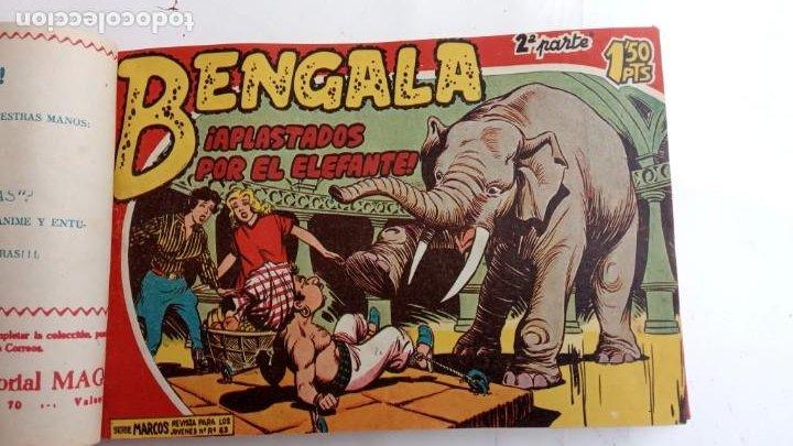 Tebeos: BENGALA 2º SERIE ORIGINAL COMPLETA 1 AL 45 EN MUY BUEN ESTADO, VER TODAS LAS PORTADAS - Foto 13 - 224823047