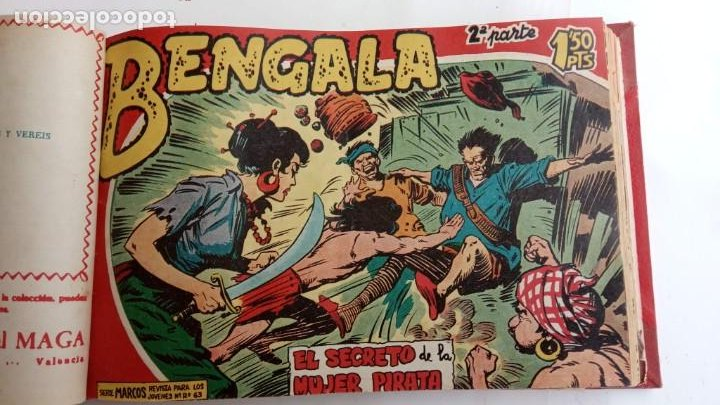 Tebeos: BENGALA 2º SERIE ORIGINAL COMPLETA 1 AL 45 EN MUY BUEN ESTADO, VER TODAS LAS PORTADAS - Foto 17 - 224823047