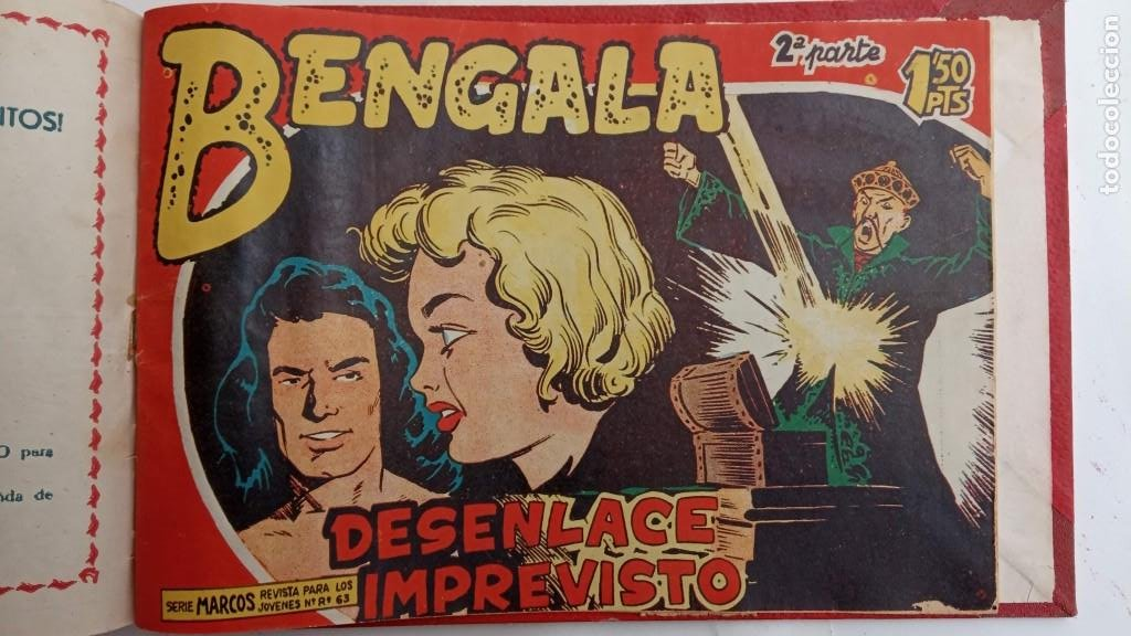 Tebeos: BENGALA 2º SERIE ORIGINAL COMPLETA 1 AL 45 EN MUY BUEN ESTADO, VER TODAS LAS PORTADAS - Foto 128 - 224823047