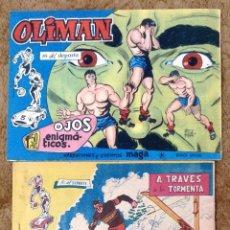 Tebeos: OLIMAN Nº 18 (MAGA 1961) Y EXTRAORDINARIO DEL CLUB Nº 7 (MAGA/BERNABEU 1963). Lote 225038310