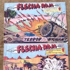 Tebeos: FLECHA ROJA Nº 29 Y 40 (MAGA 1962). Lote 225040100