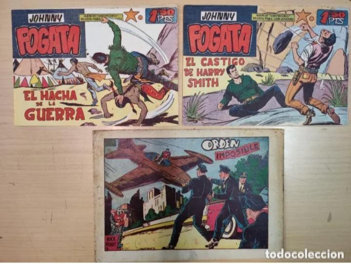 3 COMICS - JOHNNY FOGATA - VALENCIA, 1960-1970 (Tebeos y Comics - Maga - Otros)