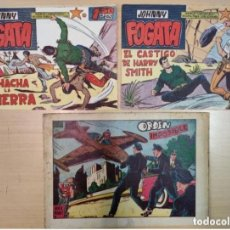 Tebeos: 3 COMICS - JOHNNY FOGATA - VALENCIA, 1960-1970. Lote 225175653