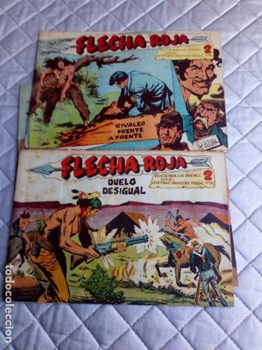 Tebeos: Flecha Roja.Lote de 7 Tebeos.Originales.Maga.año 1962 - Foto 2 - 225176390