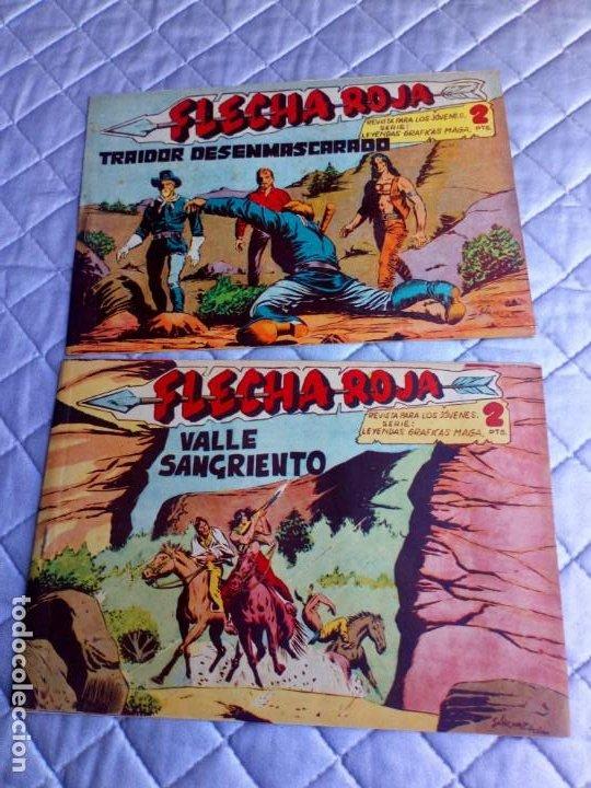 Tebeos: Flecha Roja.Lote de 7 Tebeos.Originales.Maga.año 1962 - Foto 3 - 225176390