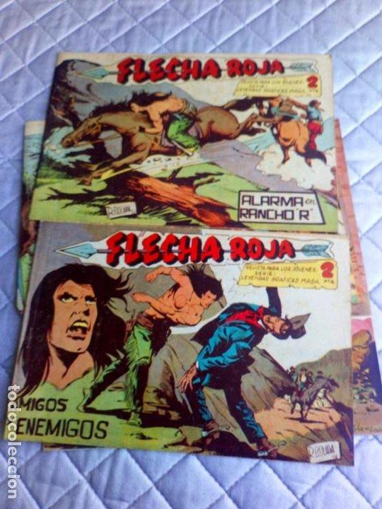 Tebeos: Flecha Roja.Lote de 7 Tebeos.Originales.Maga.año 1962 - Foto 4 - 225176390