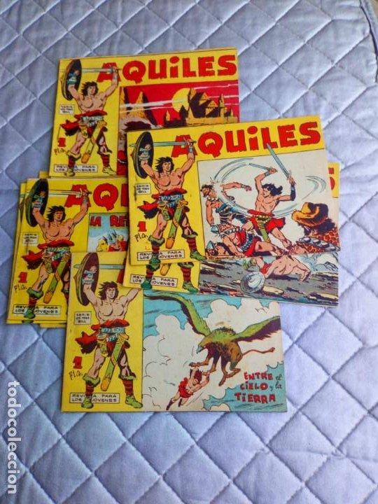 AQUILES.LOTE DE 11 TEBEOS.ORIGINALES MAGA AÑO 1962 ESTÁN EL Nº 1-2-3... RAROS Y MUY DIFÍCILES (Tebeos y Comics - Maga - Otros)