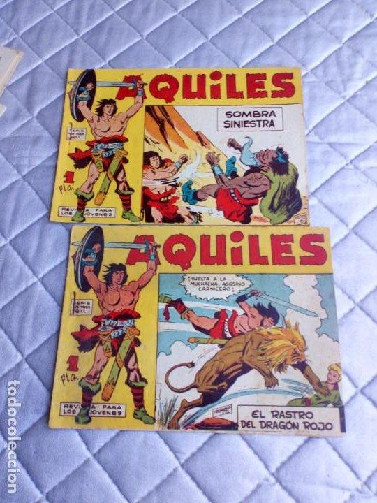 Tebeos: Aquiles.Lote de 11 Tebeos.ORIGINALES MAGA año 1962 están el Nº 1-2-3... RAROS Y MUY DIFÍCILES - Foto 3 - 225182180