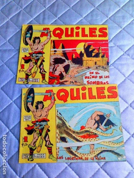 Tebeos: Aquiles.Lote de 11 Tebeos.ORIGINALES MAGA año 1962 están el Nº 1-2-3... RAROS Y MUY DIFÍCILES - Foto 5 - 225182180