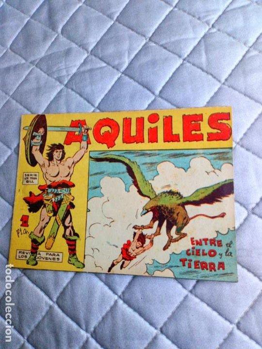 Tebeos: Aquiles.Lote de 11 Tebeos.ORIGINALES MAGA año 1962 están el Nº 1-2-3... RAROS Y MUY DIFÍCILES - Foto 6 - 225182180